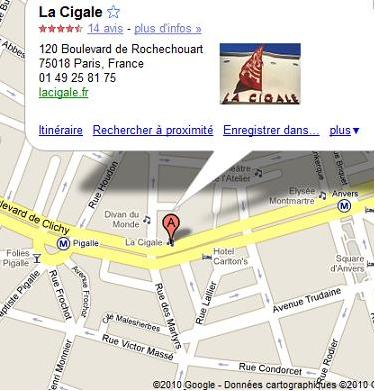 La Cigale comment y aller?